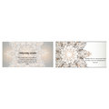 Visiting card business card with mandala logo. identity design set with abstract background. ottoman motifs