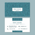 Visiting card businesscard template with cute hand drawn pattern