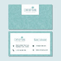 Visiting card businesscard template with cute hand drawn pattern Royalty Free Stock Photo