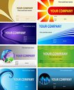 Visiting card design Royalty Free Stock Photos