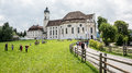 Visiting the church of wies pilgrimage german wieskirche is an oval rococo designed in late s by dominikus zimmermann it is Stock Photos