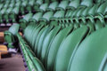 Visiting wimbledon place at the tribune of the central court at grand slam tournament Stock Photo