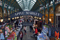 Visitors in Apple Market in Covent Garden in London, UK Royalty Free Stock Photo