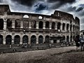 Visitors at the colosseum rome italy Royalty Free Stock Photos