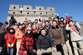 Visitors on the great wall Stock Photography