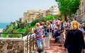Visitors at prince s palace of monaco may on may the is the official residence the Royalty Free Stock Photo