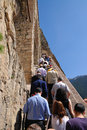 Visitors of Sumela Monastery in Trabzon Stock Photography