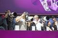Visitors test huge tele lenses photokina cologne september photokina world of imaging top event for the trade and user september Stock Photo
