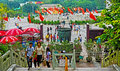 Visitors at tian tan buddha steps Royalty Free Stock Photography