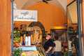 Visitors to the cafe gelato in florence italy may Stock Photos
