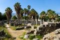 Vista antica dell'agora Immagini Stock