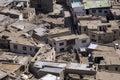 Vista da cidade, Leh, Ladakh, India Imagem de Stock