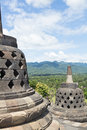 Vista da parte superior do templo de Borobudur Imagem de Stock Royalty Free