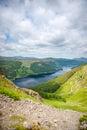 Vista de helvellyn para o lago thirlmere Imagens de Stock Royalty Free