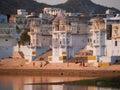 Vista de la ciudad de Pushkar Imagenes de archivo