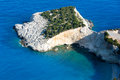 Vista del capo di estate sul mare ionico (Lefkada, Grecia). Fotografia Stock Libera da Diritti