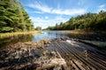 Vista dell'acqua della radura del lago carpenter Fotografie Stock