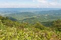 Vista mountain from jewell hollow overlook skyline drive shenandoah national park virginia Stock Photos
