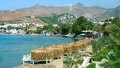 Viste costiere in bodrum turchia Immagini Stock Libere da Diritti