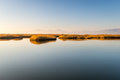 Vistonida lake from lagos in greece landscape view to mountains Stock Image