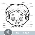 Visual dictionary about the human body. My head parts for a boy