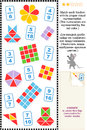 Visual fractions educational math puzzle Royalty Free Stock Images