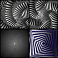 Visual illusion on a black background Stock Images