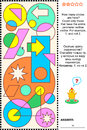 Visual math puzzle count circles educational find and all the answer included Stock Photos