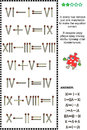 Visual math puzzle with roman numerals and matchsticks in every row remove just one matchstick to make the equation correct answer Royalty Free Stock Image