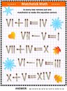 Visual math puzzle with roman numerals and matchsticks Royalty Free Stock Photo