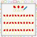 visual perception game. perception game for child, attention development work for students