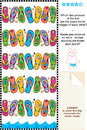 Visual puzzle - flip-flops - spot mirror images Royalty Free Stock Photo