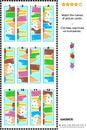 Visual puzzle - match the halves - ice cream