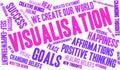 Visualisation Word Cloud Royalty Free Stock Photo
