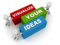 Visualize ideas Royalty Free Stock Photo