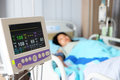Vital sign monitor in hospital Royalty Free Stock Photo