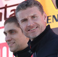Vitaly Petrov and David Coulthard Royalty Free Stock Photos