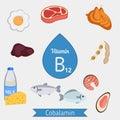 Vitamin B12 or Cobalamin infographic