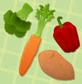 Vitamin a fresh vegetables that contain Stock Image