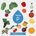 Vitamin P or Bioflavonoids infographic