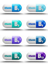 Vitamin pills isolated on white background b complex Royalty Free Stock Photography