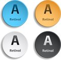 Vitamin a set of four different colors eps Royalty Free Stock Photo
