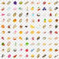 100 vitamine icons set, isometric 3d style Royalty Free Stock Photo