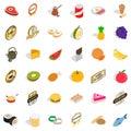 Vitamine icons set, isometric style Royalty Free Stock Photo