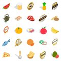 Vitamine icons set, isometric style Royalty Free Stock Photo