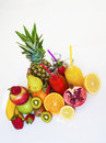 Vitamins and mnerals Fruits and vegetables healthy food Royalty Free Stock Photo