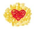 Vitamins omega isolate on white background Royalty Free Stock Images
