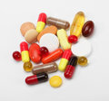 Vitamins, pills and tablets Stock Photography