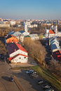 Vitebsk downtown view from uspensky dome belltower Royalty Free Stock Photo