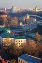 Vitebsk downtown view from uspensky dome belltower Stock Photography